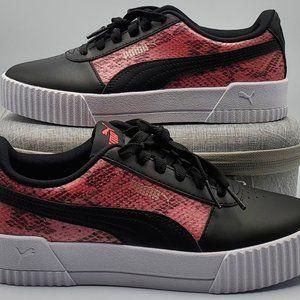 Puma Carina Girls Size 4.5C Black/Pink/White NEW